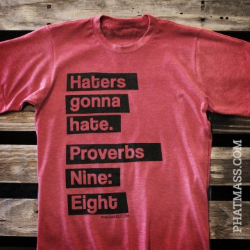 Haters gonna hate, Proverbs 9:8